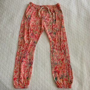 🔴 ZARA PINK COLORFUL CASUAL PANT